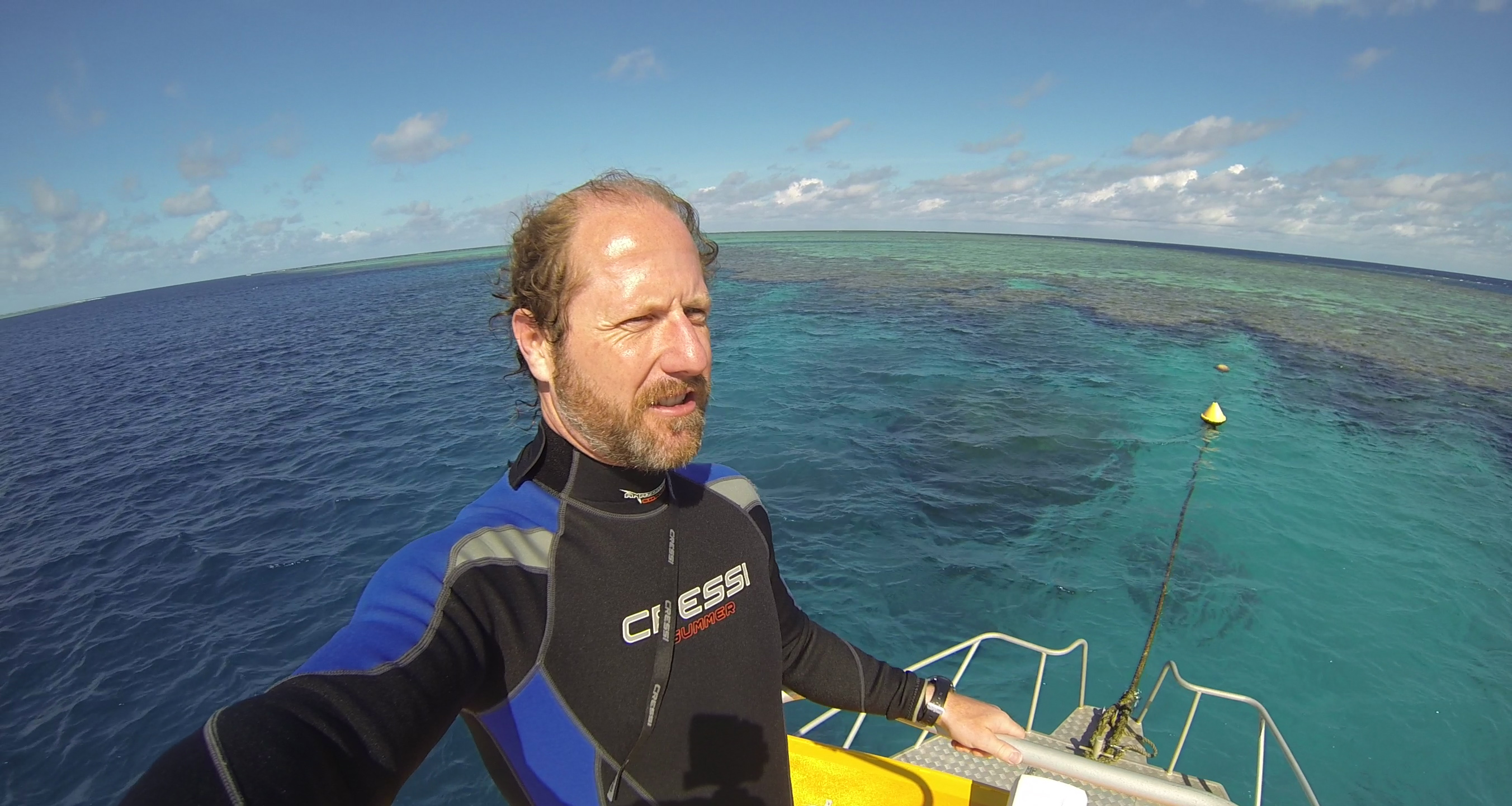 Dr Shelby Temple on the Great Barrier Reef