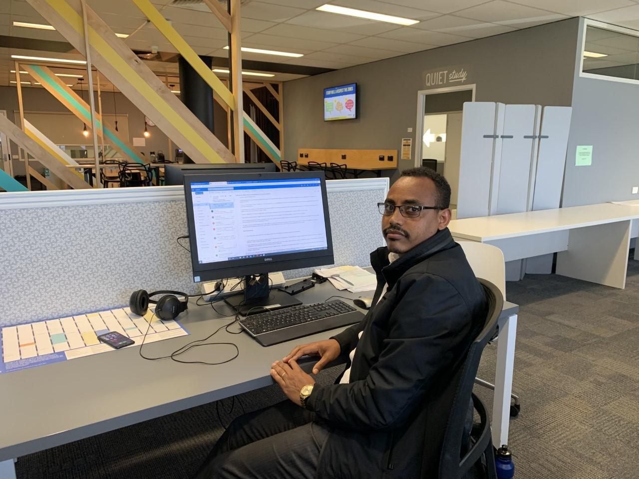 PhD Student Abel Fekadu Dadi