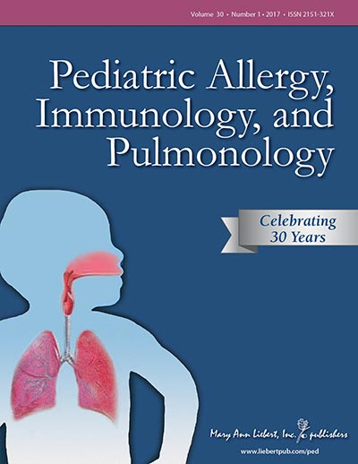 <em>Pediatric Allergy, Immunology, and Pulmonology</em>