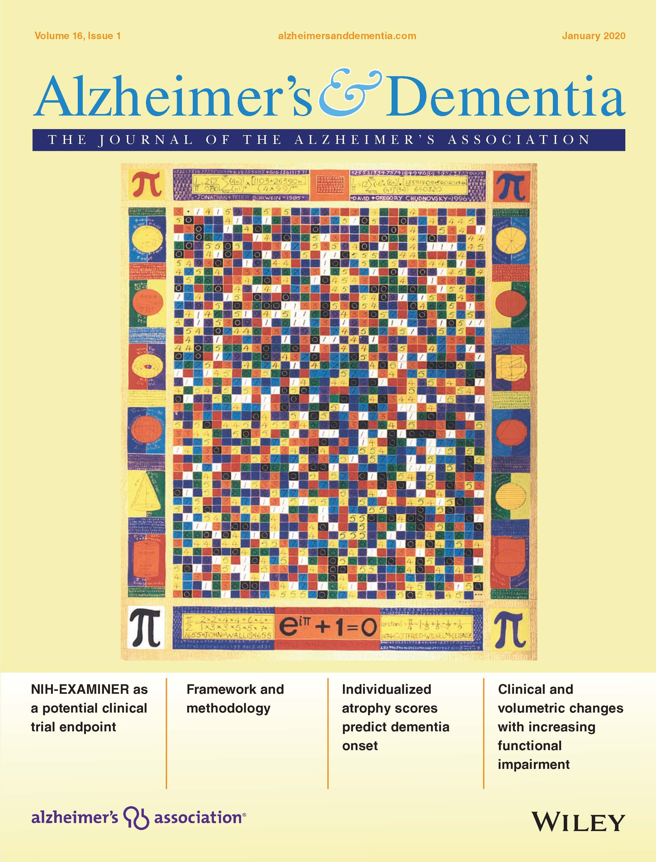 Alzheimer's & Dementia: The Journal of the Alzheimer's Association January 2020 Issue