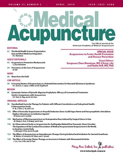 <em>Medical Acupuncture</em>