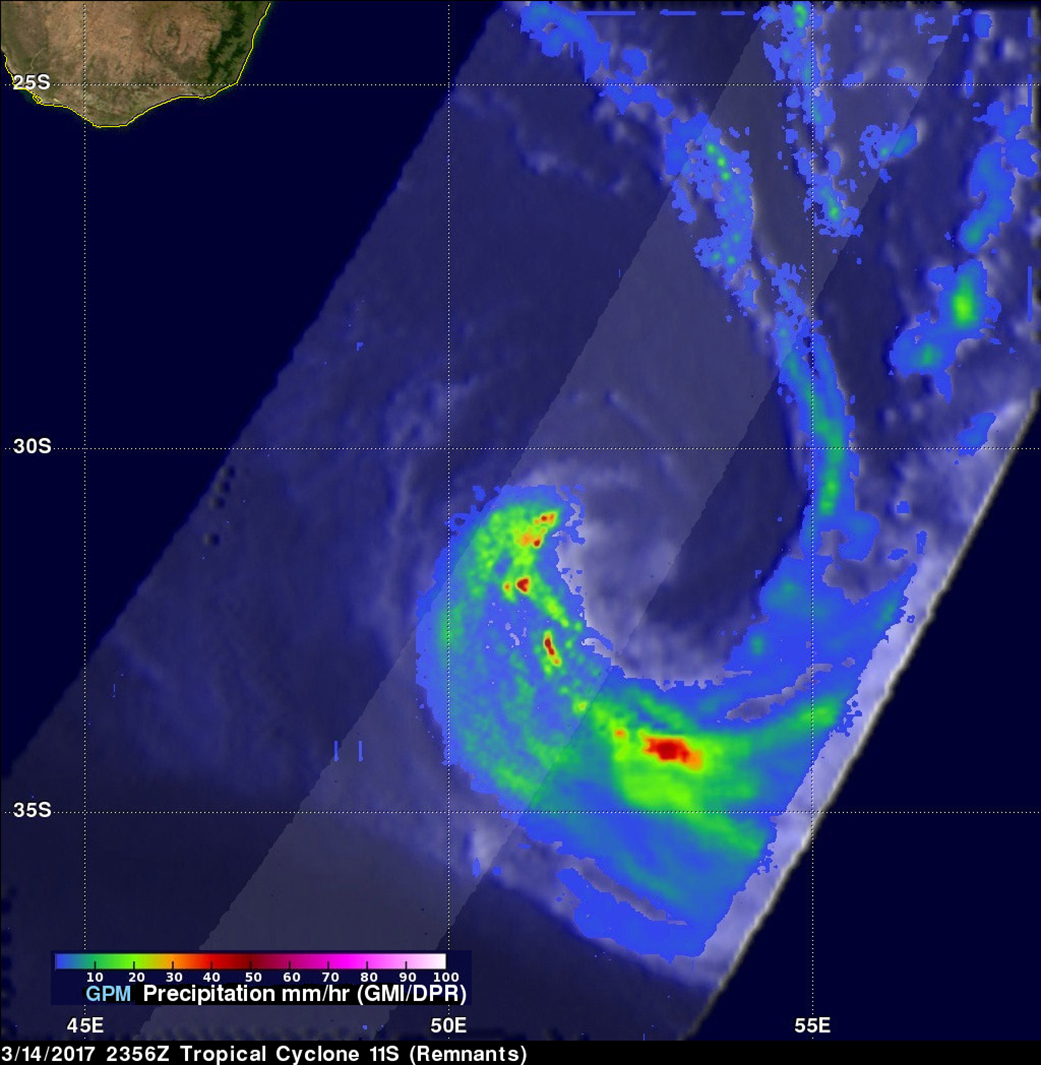 GPM Image of 11S Remnants