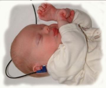 A Baby Having a Hearing Screening