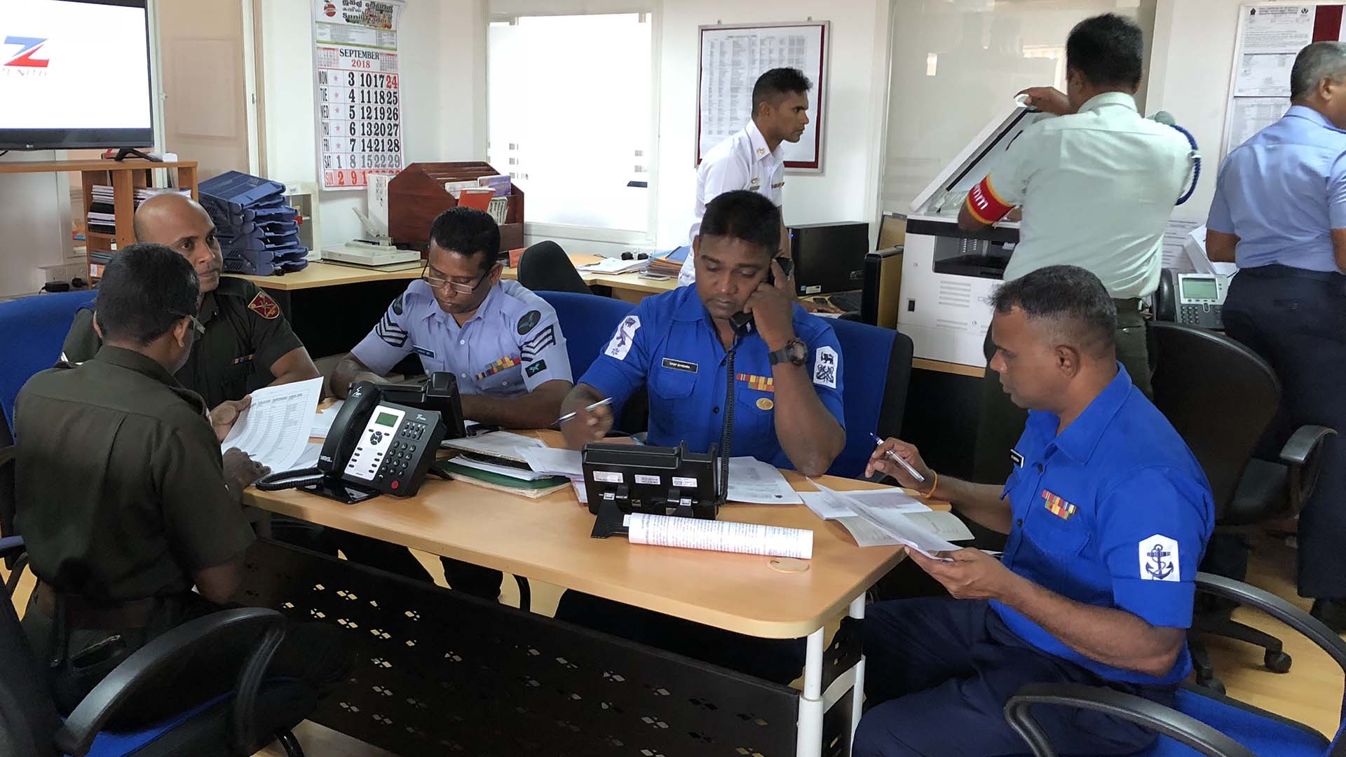 Sri Lanka Tsunami Warning System Test Staff
