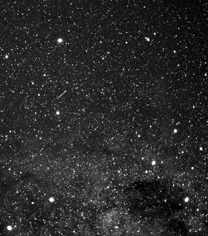 Satellite Moving Across the Sky