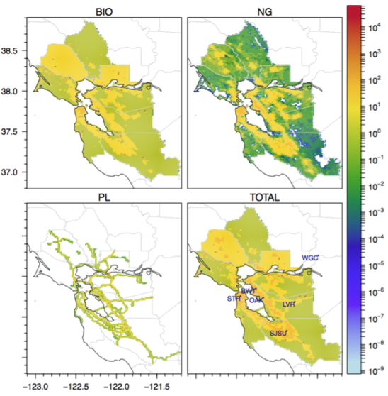 Map of Bay Area Methane Rmissions by Source
