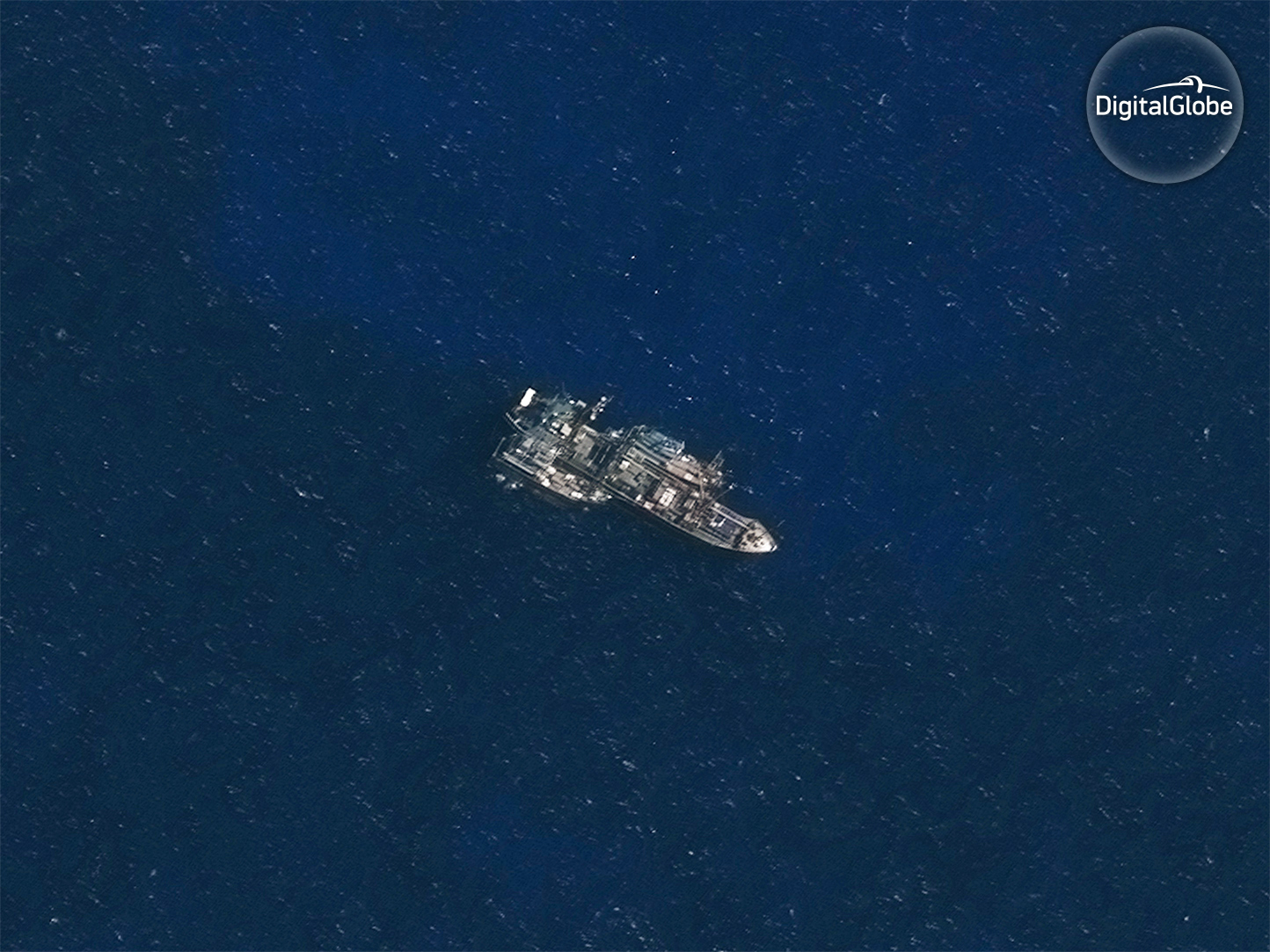 Image of Likely Transshipment by Thai Reefer Caught by Satellite