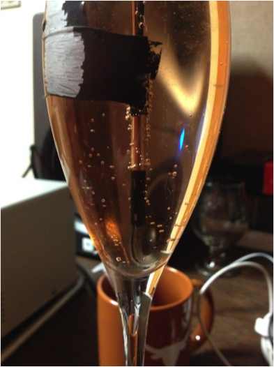 Hydrophone in Champagne Glass