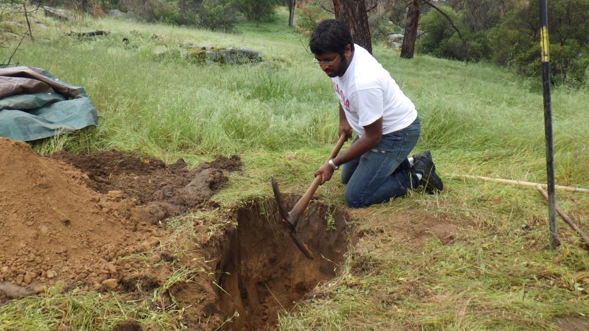 Digging for Soil Samples