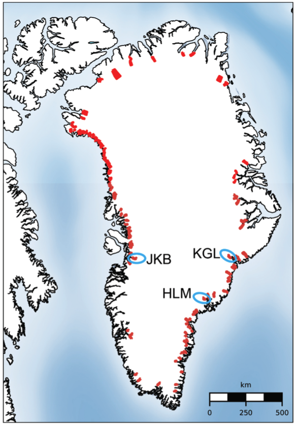 Glaciers Included in This Study