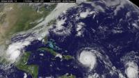 Satellite Animation Sees Category 4 Hurricanes Irma and Jose, Katia Landfall