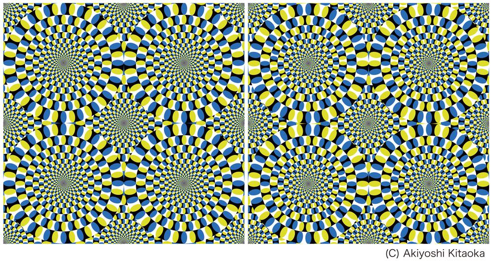 Akiyoshi Kitaoka's Rotating Snake Illusions