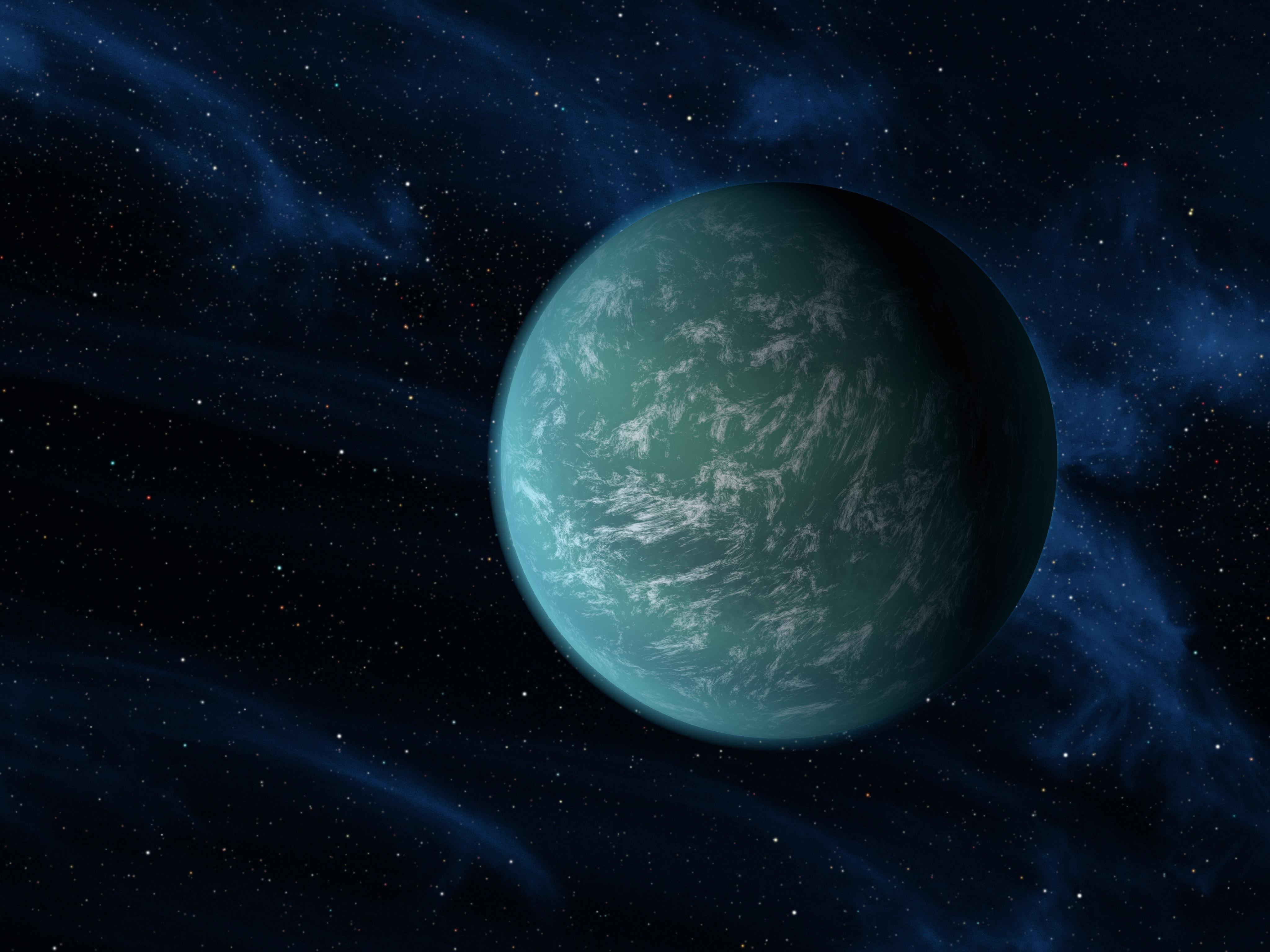 Artist's Depiction of Exoplanet Kepler 22b