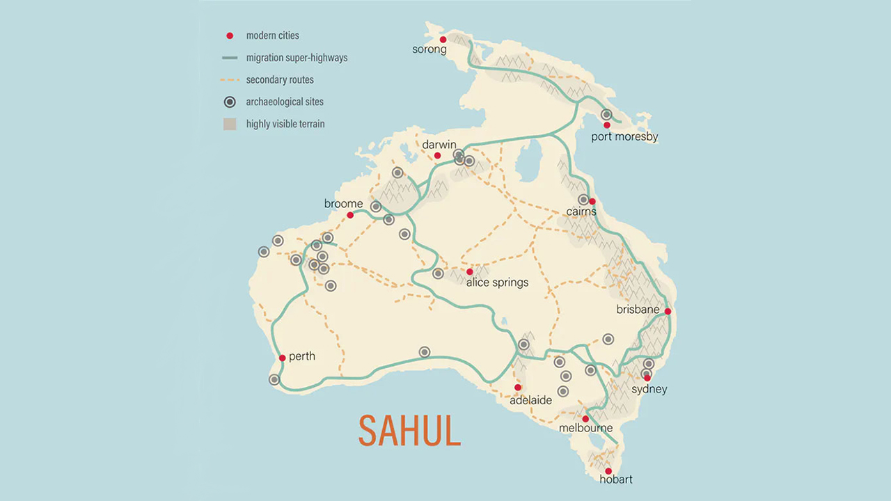 First Australian populations followed footpath 'superhighways' across the continent