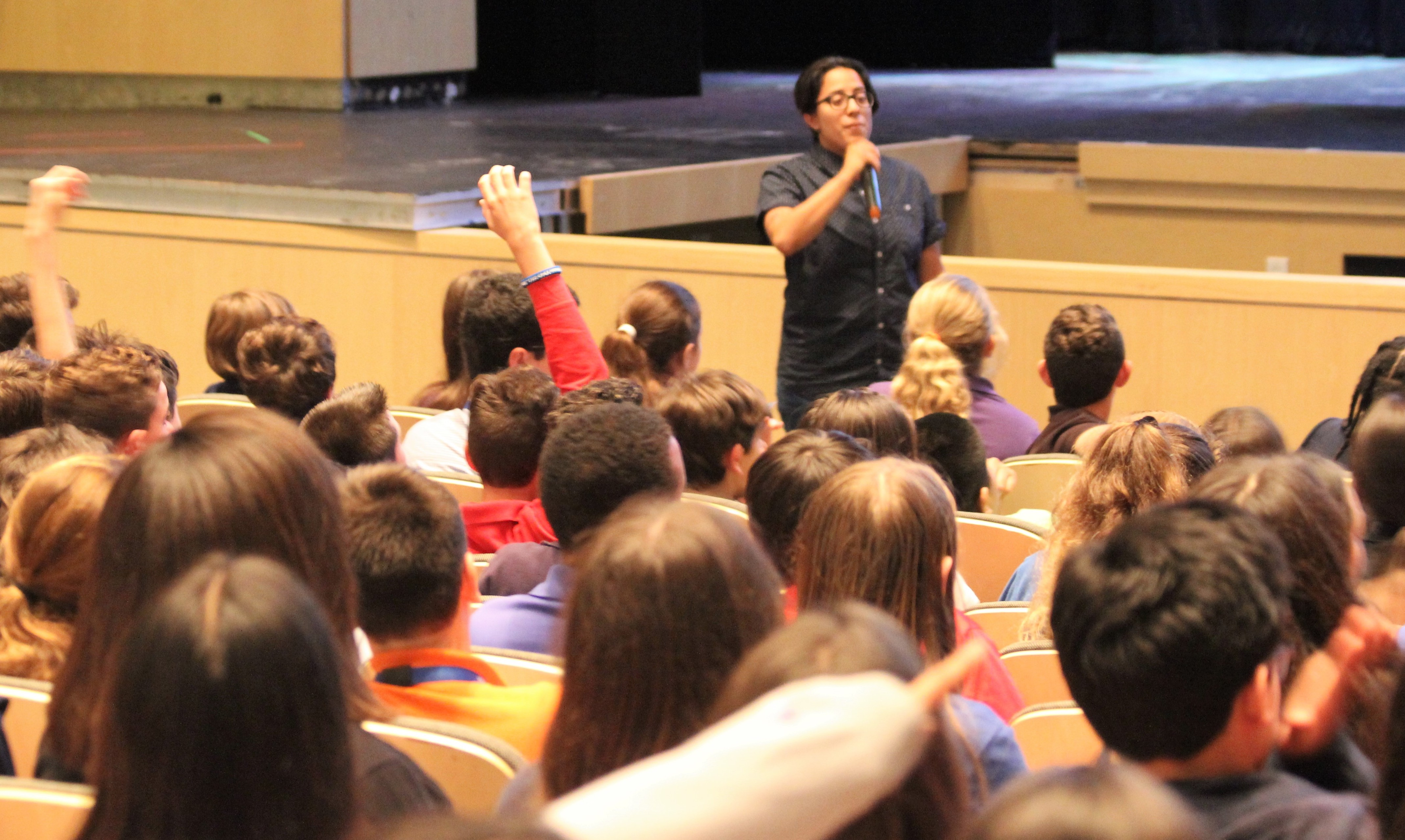 YES Institute Leading a Discussion for Nova Southeastern University Middle School students