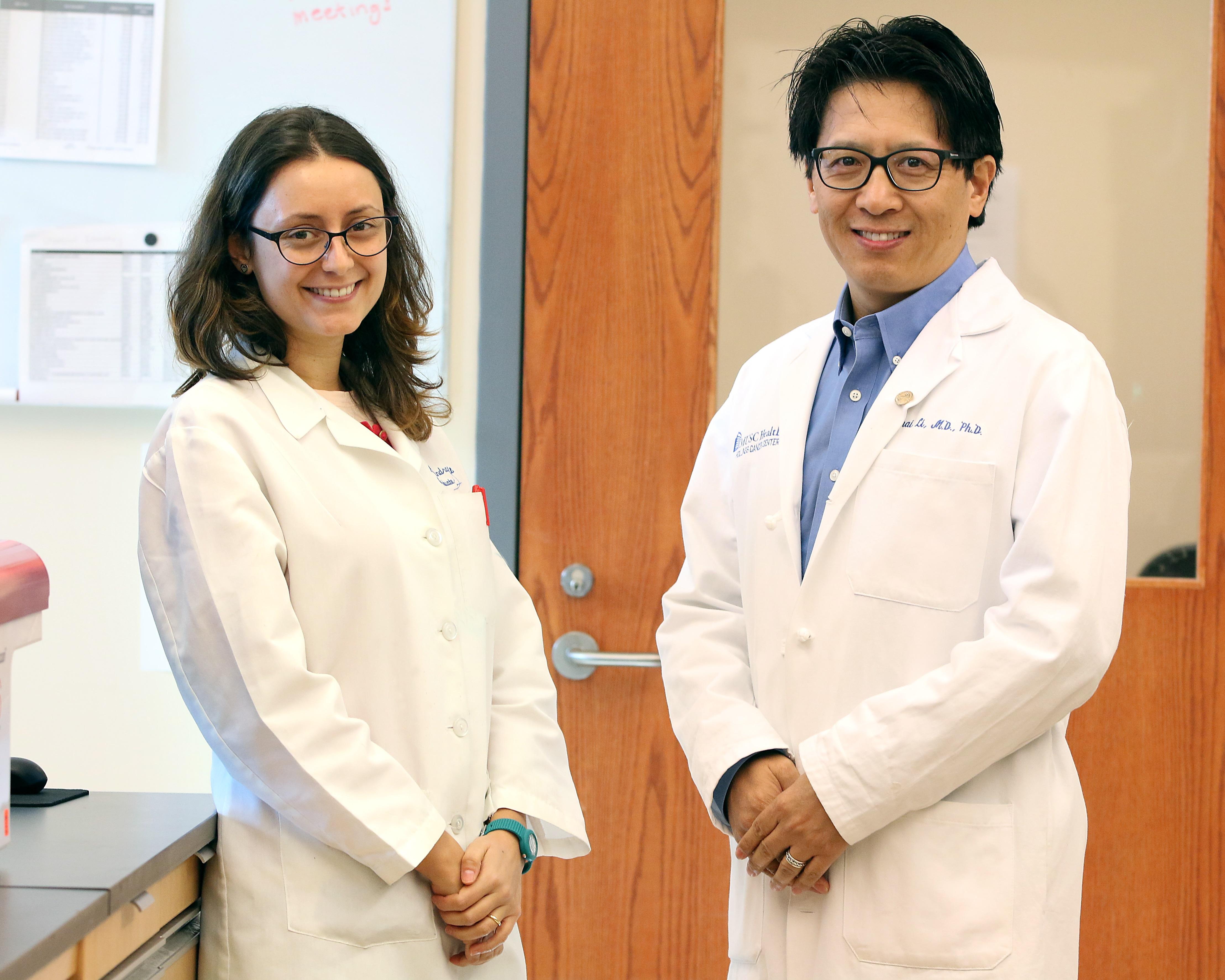 Alessandra Metelli (left) and Dr. Zihai Li (right), Medical University of South Carolina