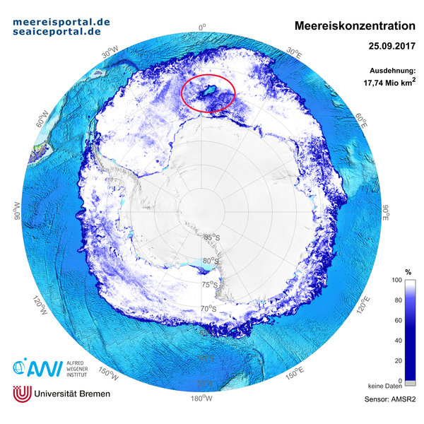 Sea Ice Distribution around Antarctica