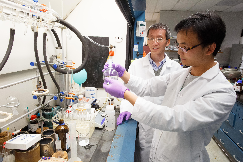 Haibo Ge, Ph.D. (rear) and Yongbing Liu, Ph.D.