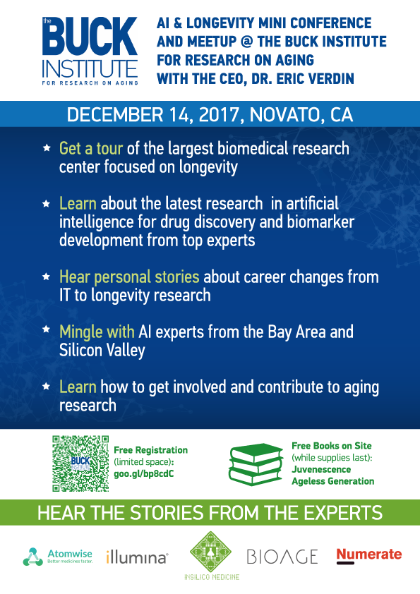 AI & Longevity Mini Conference and Meetup @ the Buck Institute