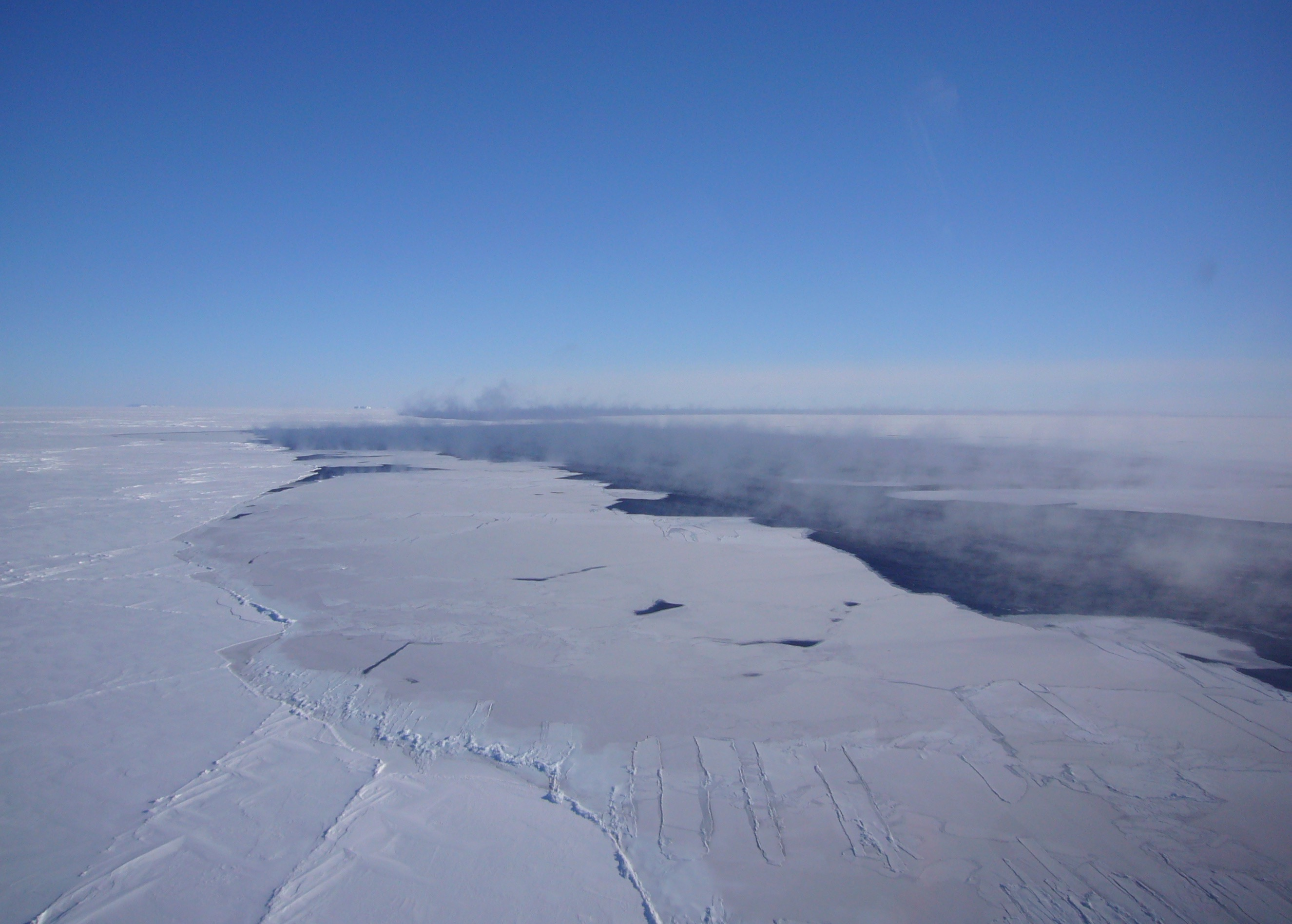 Aerial View of the Polynya in the Southern Ocean